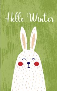 December 2018 Wallpaper_Rabbit